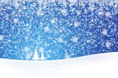 Blue snowy Christmas background Royalty Free Stock Photos