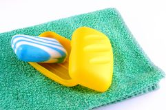 Blue soap Royalty Free Stock Image