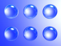 Blue soap-bubbles Stock Image