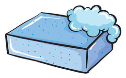 A blue soap Stock Images