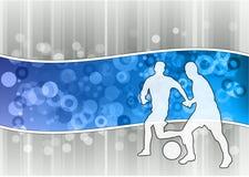 Blue soccer Stock Image