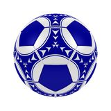Blue soccer ball. 3d illustration of a blue soccer ball. A clipping path is included for easy editing Royalty Free Stock Image