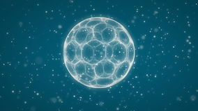 Blue Soccer ball Background stock video footage