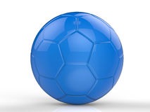 Blue soccer ball Stock Image