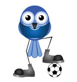 Blue soccer player Stock Images
