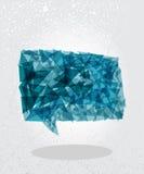 Blue social bubble geometric shape. Stock Photos