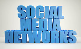 Blue Social Media Network Royalty Free Stock Image