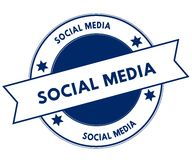 Blue SOCIAL MEDIA stamp. Stock Photo