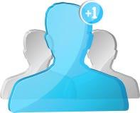 Blue social network avatar Stock Photography