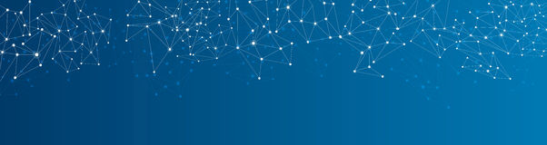 Blue social network background Royalty Free Stock Photo