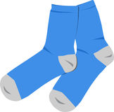 Blue socks. A vector illustration of blue socks Stock Image
