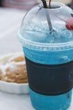 Blue soda beverage Stock Image