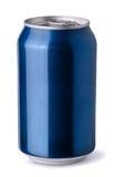 Blue soda can royalty free stock photos