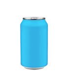 Blue soda can Royalty Free Stock Photos