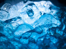 Blue Soda. Close up blue soda drink with ice Stock Image