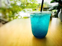 Blue soda. Image. Blue soda image drink color cafe water cocktail photo food beverage eat royalty free stock photo