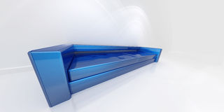 Blue sofa. A sofa in blue, with a great angle view Royalty Free Stock Photo