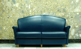 Blue sofa Stock Photos