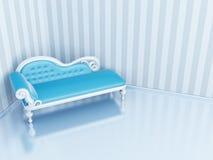 Blue sofa Royalty Free Stock Photo