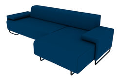 Blue Sofa 3D Rendering Royalty Free Stock Images