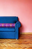 Blue sofa Royalty Free Stock Image