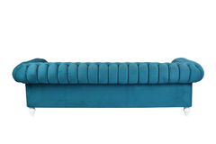 Blue Sofa. Cloth sofa isolated on black background royalty free stock images