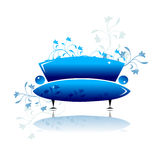 Blue sofa design Royalty Free Stock Photo