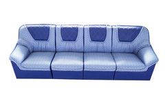 Blue sofa. Isolated on white background Royalty Free Stock Image