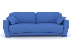 blue sofa with pillows Royalty Free Stock Image