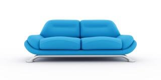 Blue sofa on white background Stock Photography
