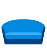 Blue sofa on a white background Stock Photo