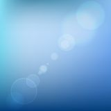 Blue Soft Colored Abstract Background with Lens. Flare Light. Vector illustration Stock Photo