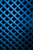 Blue Soft Light On Geometric Wood Art Stock Photo