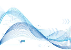Blue soft lines background. Blue soft lines and arrows background Royalty Free Stock Images