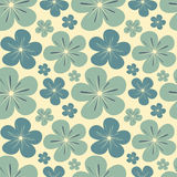 Blue soft pastel flowers seamless pattern background illustration Royalty Free Stock Photography