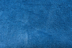 Blue soft towel texture background close up Royalty Free Stock Photo