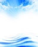 Blue soft waves Stock Photos
