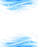 Blue soft waves Stock Images
