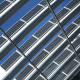 Blue solar cells Stock Photography