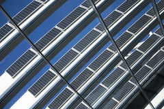 Blue solar cells Royalty Free Stock Image