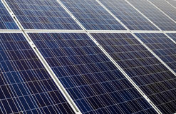 Blue solar cells Royalty Free Stock Images