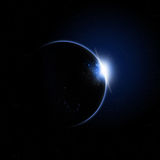 Blue Solar Eclipse Stock Photography
