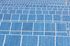 Blue Solar Energy Panels Royalty Free Stock Photos