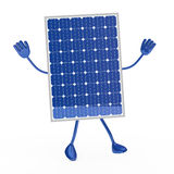 Blue solar figure. Was happy and jump Stock Photography