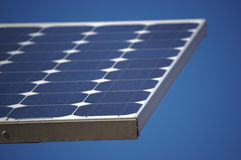 Blue Solar Panel against a Blue Sky Royalty Free Stock Photos