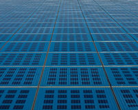 Blue solar panel collector view Stock Photography