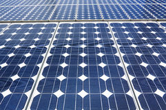 Blue solar panels Royalty Free Stock Photography