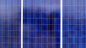 Blue Solar Panels Royalty Free Stock Photo