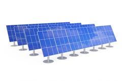 Blue Solar Panels. 3d Rendering Stock Photos