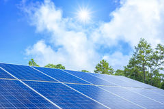 Blue solar panels Stock Photography